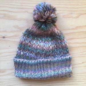 Mossimo colorful knitted Pom Pom beanie